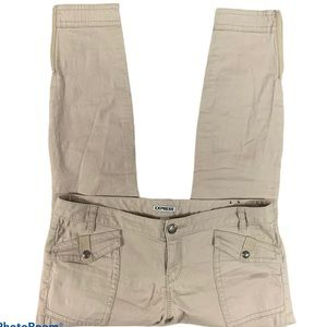 Express Stretchy Cargo Ankle Pants Women's Sz 12